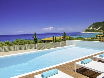 Photo for Villa Lefki - newly built villa with stunning views a short walk from the beach