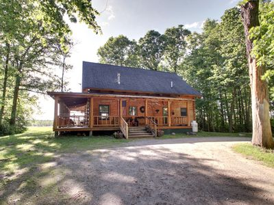 Photo for Authentic Log Cabin w/ air conditioning! & Hot Tub, Near Lake w/mountain Views