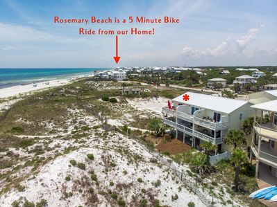 Rosemary Beach is a 5 Minute Bike Ride from our Home!