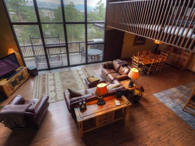 Photo for Sky View in the Rockies - Spacious mountain lodge! - Floor to ceiling windows! -- EV #3473