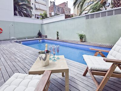 Photo for Penthouse w / Pool and Terrace in Gracià 2 hab 6 pax - Free WiFi
