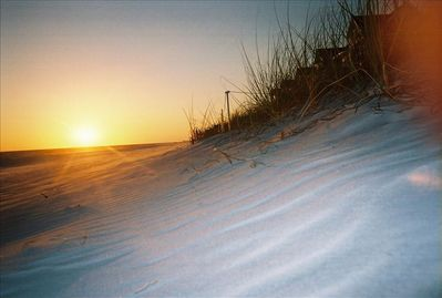 White soft cool sands under your feet and the sun on your face, just steps away.