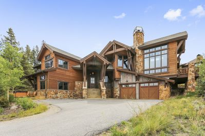 Beautiful architecture on this custom home!