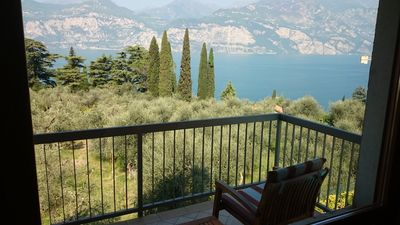 Photo for Two-room apartment with a splendid view of Lake Garda