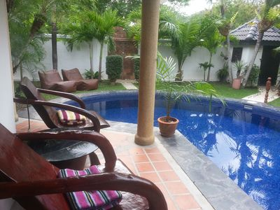 Photo for Beautiful private villa with pool and tropical garden