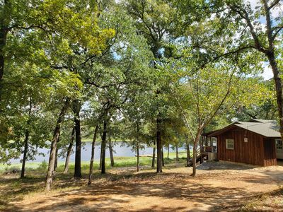 Photo for Getaway to this hidden gem! East Texas, private fishing lake with secluded cabin