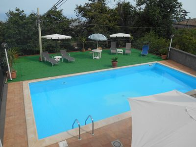 Photo for Panoramic Casavacanza in Villa with pool 'Alba'