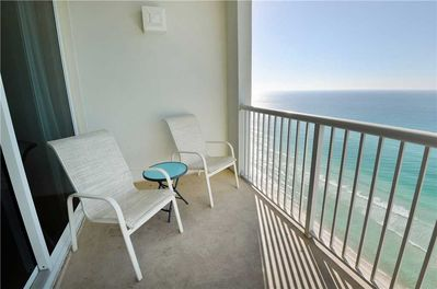 Visit the beautiful balcony for a breath of fresh Florida air. - The beautiful balcony, complete with palm tree views, is an all-time favorite at Majestic 2202 West!