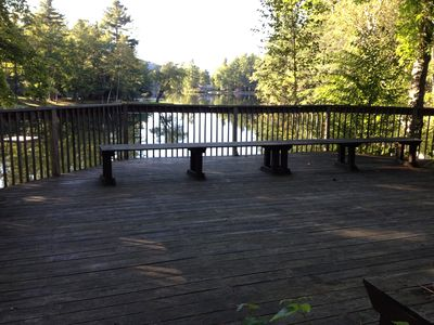 deck overlooking lake