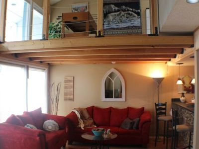 Photo for NEW LISTING! Mountain view Aspenwood condo w/patio -near golf & private lakes