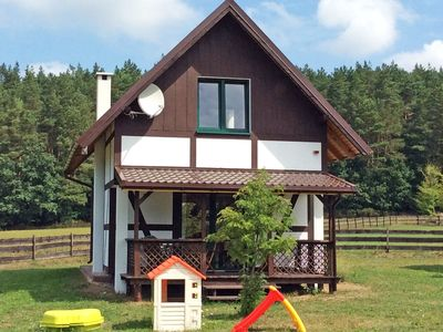 Photo for The holiday house is located near the forest, 300 m from the lake, 6 km from sea