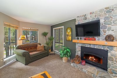 Comfortable living area, perfect for a family of 4