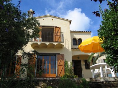 Photo for Sunny Hillside villa, Heated pool. Wonderful views, Very private, WIFI.