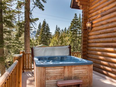 Photo for Stunning 4BR Log Home w/ Private Hot Tub, Billiards Room & Mt. Tallac  Views