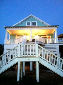 Photo for Beautiful beach house on Gulf of Mexico in Pass Christian, MS