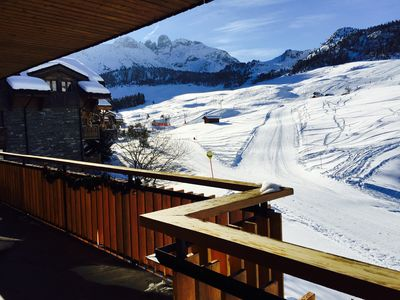 Photo for Courchevel 1650 Belvédère beautiful apartment 4 ch ds Chalet skis south balcony