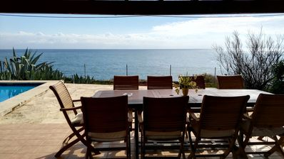 Photo for Villa Sol Naixent Overlooking The Sea With Private Pool And Free Wi-Fi