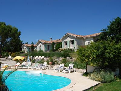 Photo for Large Luxury Villa with private heated Pool, Jacuzzi & Sauna for up to 25people
