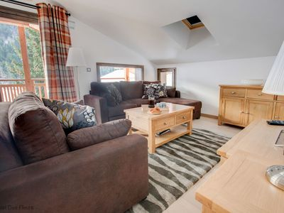 Photo for Stunning new apartment situated opposite Perrieres chair lift in les Gets