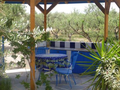 Photo for villa with pool, in an organic olive grove by the sea