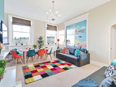 Photo for Grand Seaview Apartment - Direct Sea views - 10 mins to Pier