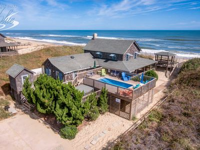 Photo for The Beach House | Oceanfront | Dog Friendly, Private Pool, Hot Tub