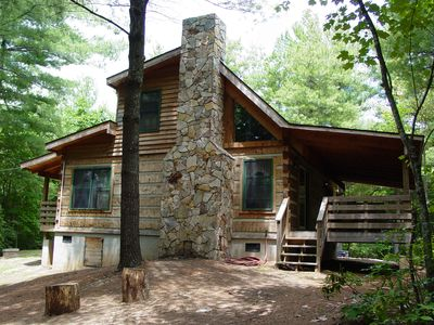 Photo for Near Boone NC Secluded Log Cabin/Hot Tub/Campfire Pit/WiFi/Pet & Family Friendly