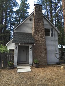 Photo for Vintage Cabin, Filtering Lake Views, 2 blocks off Lake Boulevard