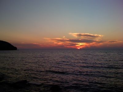 Sunset over Eagle Harbor in Ephraim - one of the best sunsets in Door County!