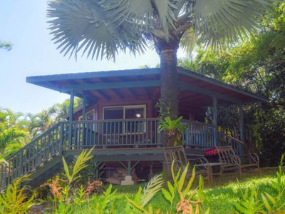 Photo for Romantic getaway w/ a private, outdoor shower & furnished deck - close to beach