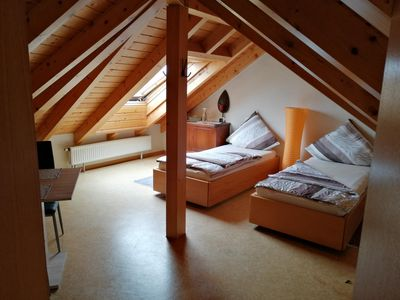 Photo for Charming attic room with bathroom.