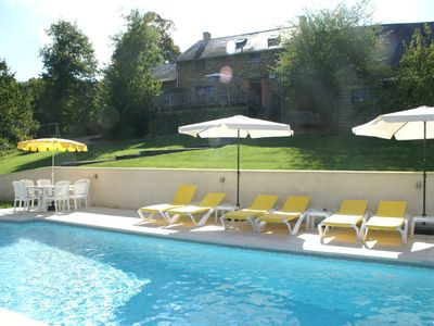 Photo for Beautiful detached holiday home with private swimming pool and beautiful view in France