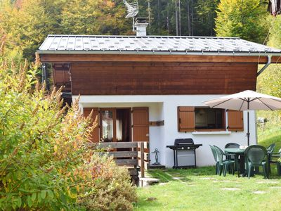 Photo for Charming chalet, exceptional view of the Mont Blanc.