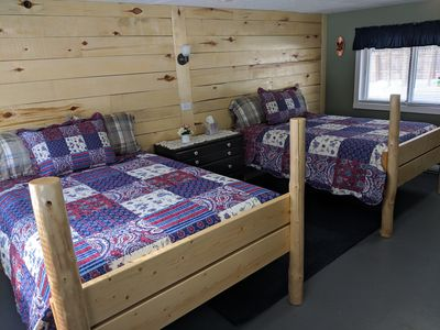 Hand crafted, two full size beds
