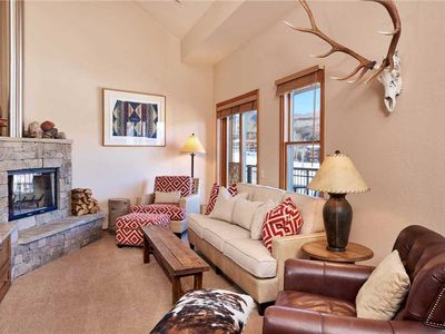 Photo for Spacious Condo in Ski-In/Ski-Out Property, Wood-Burning Fireplace, Access to Hot Tub and Heated Pool