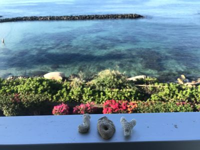 Our lanai (balcony) overlooks the lagoon and ocean
