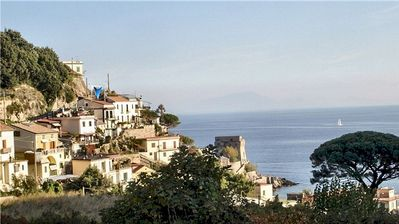 Photo for Panoramic apartment  on the Amalfi Coast - View on the Mediterranean sea