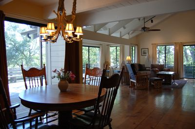 Dining room off of deck.