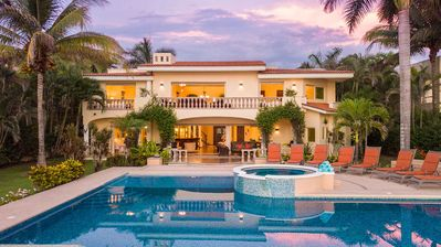 Photo for Villa del Tigre - Luxurious beachfront villa in San Pancho