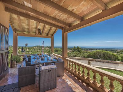 Photo for Beautiful country house with panoramic views over Porto Colom and surrounding area