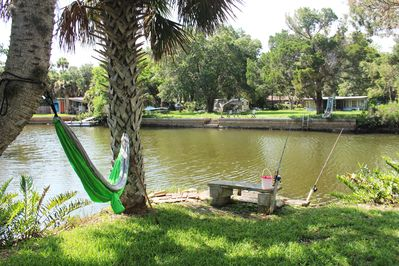 BEST FISHING SPOT - sit and enjoy Uncle Walter's Fishing Hole.  2 hammocks.