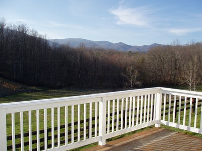 Photo for Spectacular Mountain Views! Beautifully appointed. Pool. Hiking trails. Deck.