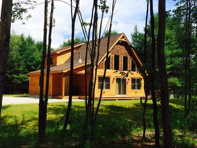 Photo for Riverfront Ski Chalet Cabin only minutes to Sunday River Resort & Trails Galore!