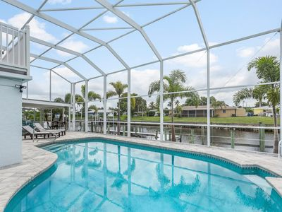 Photo for Large Home, heated pool/hot tub on the Water with Gulf Access & Southern Exposu