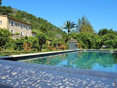 Photo for Rural Villa near Sóller Port - Beach and walking paths. Flat garden with pool.