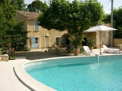Photo for Beautiful Provencal house with pool at the foot of Ventoux