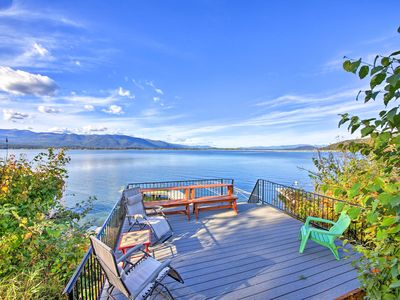 Photo for Lakefront Home w/ Dock & Hot Tub Near Schweitzer!