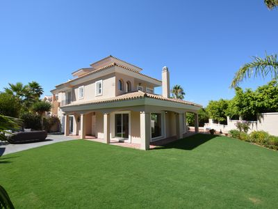 Photo for Stunning Villa - 5 Bed, Private Pool & gardens,  2 mins to beach & all amenitie
