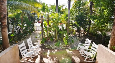 relax and enjoy the lush gardens