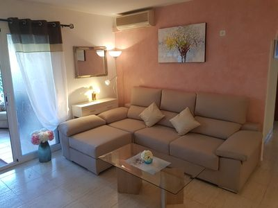 Photo for Cozy apartment m. Garden, barbecue, air, gas, playground, pool, WiFi